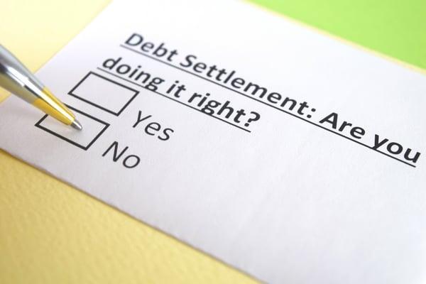 Debt settlement document