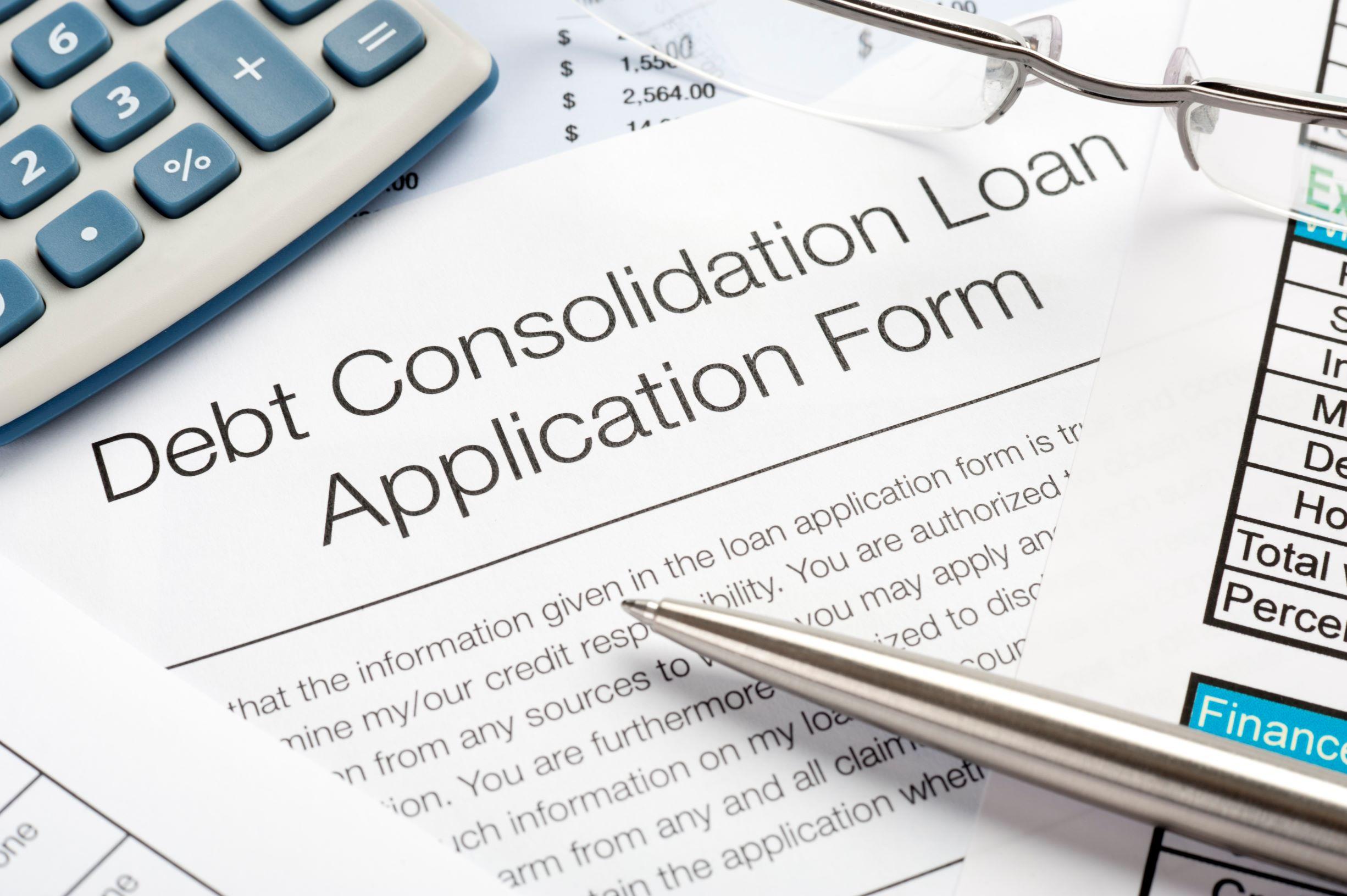 Debt Consolidation Application Form