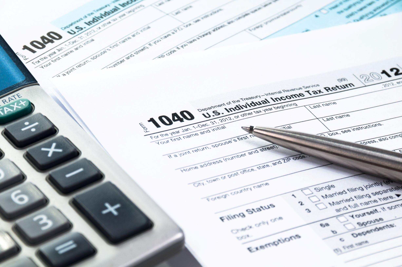 Image of form 1040 Individual tax return