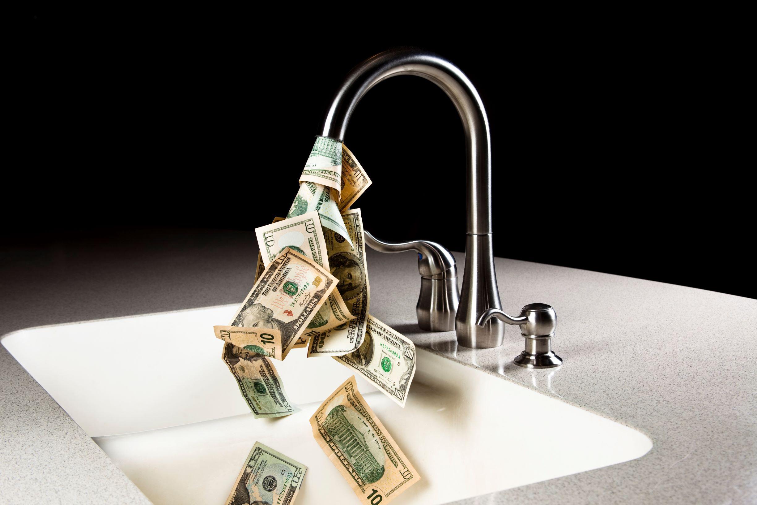 Spending money on water